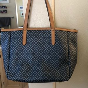 Fossil Blue Tote Bag